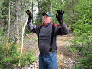 Grandpa showing us how to chase away a bear :)